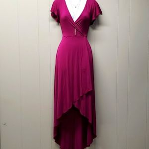 Roller Coaster High Low Fuchsia Dress Size Small